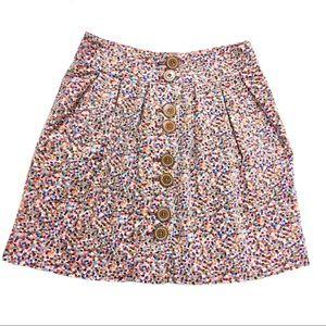 Elevenses Rainbow Confetti Pleated Mini Skirt
